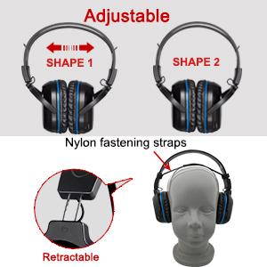 wireless car headphone with adjustable headband