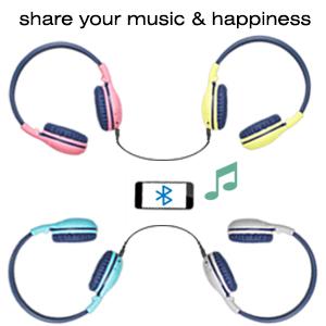 kids headphone with share port