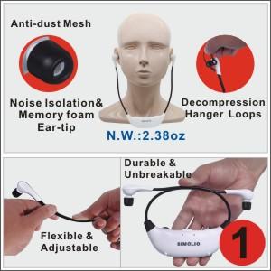 comfortable and adjustable headset