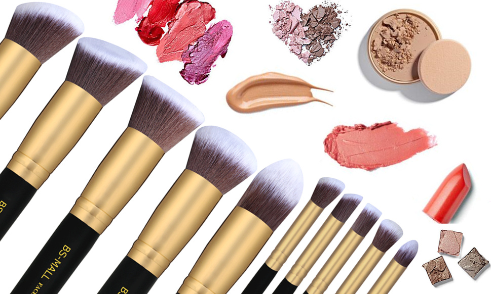 Image result for make up with brushes