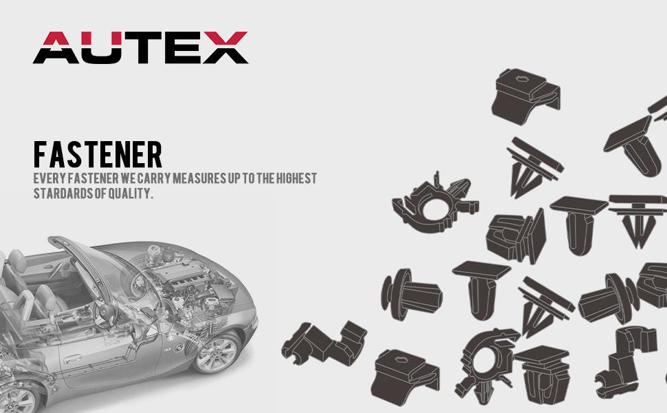 amazon com  autex fender bumper fastener rivet 100pcs