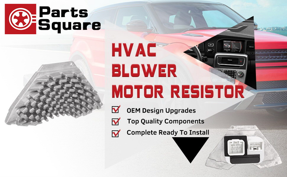 PartsSquare Heater Blower Motor Resistor Compatible with VOLVO S60 01-09  Replacement for VOLVO S80 99-06 Replacement for VOLVO V70 XC90 XC70 01-09