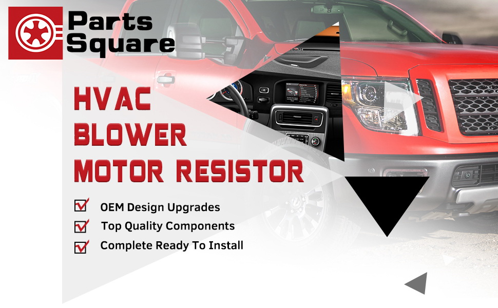 PartsSquare Heater Core Blower Motor Resistor 3A1041 RU546 89018770 Replacement For CHEVROLET C4500 C5500 C6500 C7500 KODIAK GMC C4500 C5500 C6500