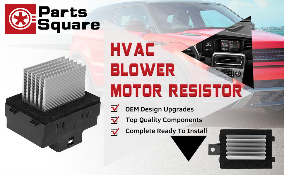 PartsSquare Blower Motor Resistor YH1825 Compatible with Ford  Fusion,Mercury Milan 2006-2011 Fan Resistor Replacement for Lincoln MKZ  07-12
