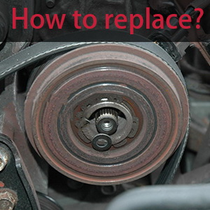 2) Removing the clutch rotor using a puller. 3) Removing the bearing from the clutch rotor. 4) Measuring the clearance between the compressor clutch ...