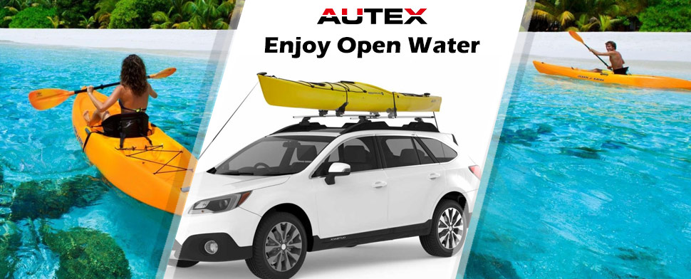 Universal Kayak Carrier Multi-Pivot Water Craft Canoe Boat Surf Ski Roof Rack Cross Bars Saddles Top Mounted on Car