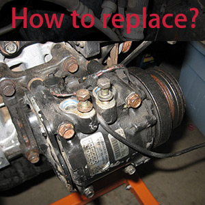 2) Remove the failed compressor from the vehicle. Transfer any switches, sensors, brackets, or manifolds from the original compressor to the replacement ...