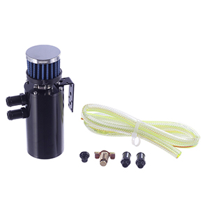 Vincos 300ML Aluminum Oil Catch Can Kit Reservoir Coolant Tank Motor Fuel Tank W//Cylinder Breather Filter Drainer Valve Replacement for Honda//Acura//BMW//Nissan//Toyota//GMC//Ford//Subaru EVO Black