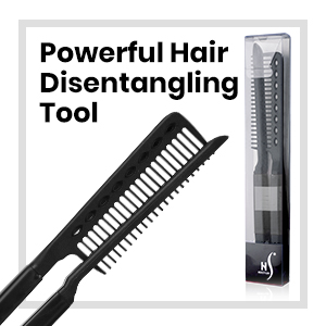 who invented straightening comb