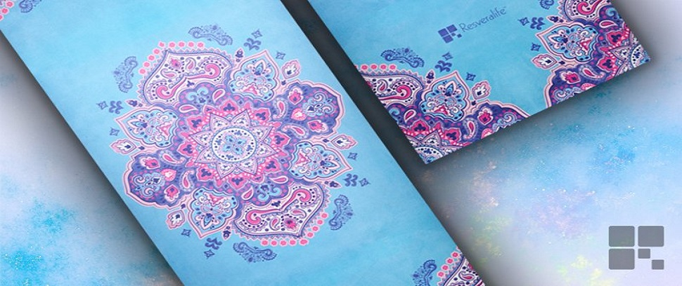 Positive Energy for the Mind and Body. With the Resveralife Mandala Yoga Mat  ... 9aa29b7355427
