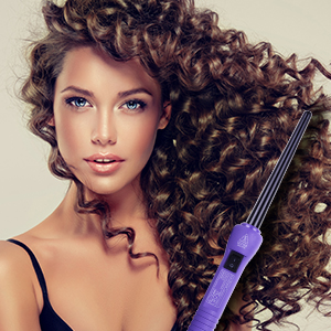 Herstyler Baby Curls Mini Curling Iron Tapered 9mm To 13mm Curling Iron 1 2 Curling Wand With Dual Voltage Thin Curling Iron For Queens Who Want
