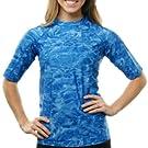 women swim rashguard shirt uv protection plus adult sun upf guard aqua short sleeve swimsuit athlete