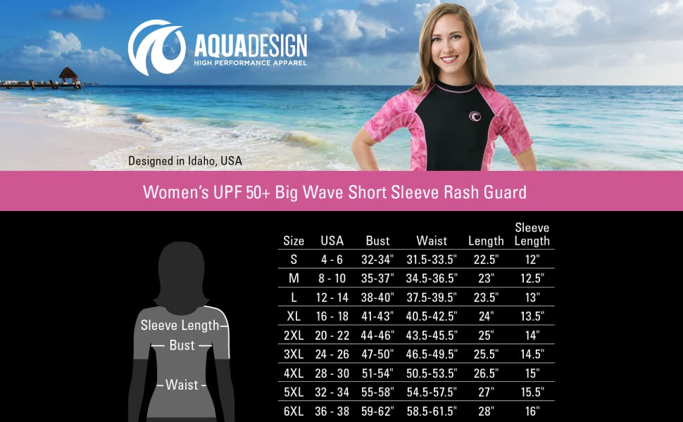 women swim rashguard shirt uv protection plus adult sun upf guard aqua short sleeve swimsuit