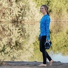 Aqua Design Marina Flip Flops Sandals Leggings Pants Long Sleeve Rash Guard Rashguard