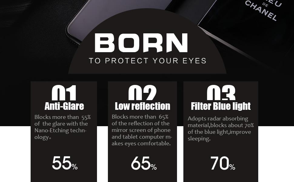 iPhone x 10 glass screen protector anti glare