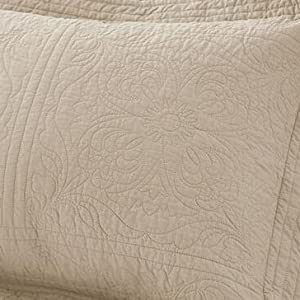 khaki cotton pillow shams