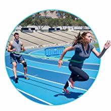 Speed training for footwork agility and foot speed and vertical jump training with power bands strap