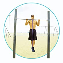 Pull up assist resistance bands for calisthenics and full body workouts