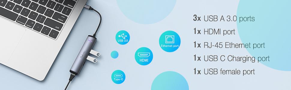 iTeknic USB C Adapter Hub