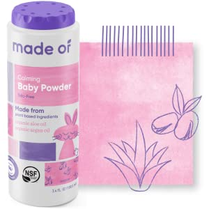 Our talc-free baby powder is made from entirely plant-based ingredients