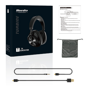 Bluetooth Over Ear Headphones, Bluedio T7 Turbine Custom Active Noise Canceling Headphone 57mm Driver Hi-Fi Stereo & 30Hrs Playtime, Wireless Headsets ...