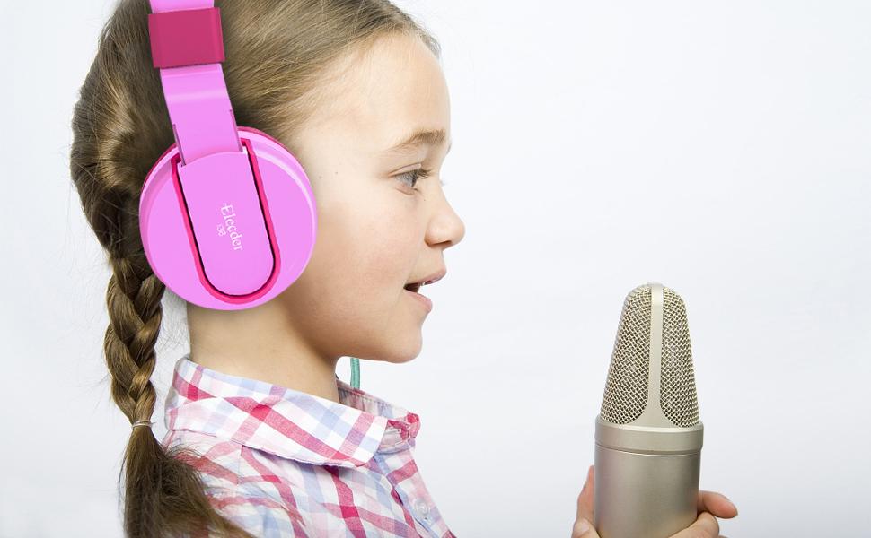 elecder i36 kids headphones pink