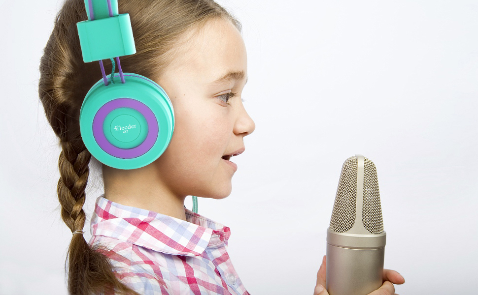 elecder 37 headphones for kids green