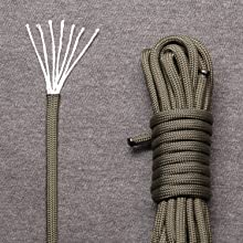 guy ropes GEORGES Paracord rope 550 for camping and outdoor tear-resistant nylon cord with 7 core strands lengths. laces