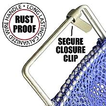 Heavy Nylon Drawstring Catch bag Scuba Dive w// barrel lock mini 8x10 black  USA