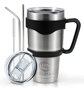 meet the selitan stainless steel travel mug set