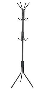 Amazon.com: Vlush Free Standing Rack, 8 Hooks Wooden Hanger ...