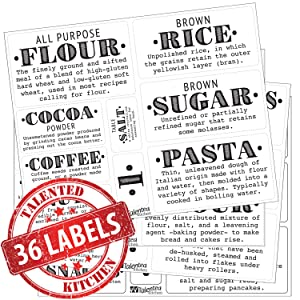 36 pantry definitions labels by talented kitchen