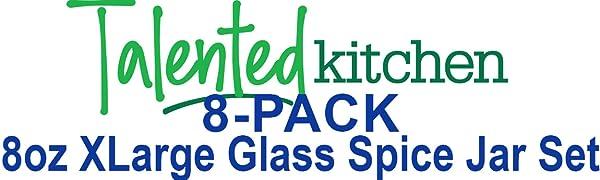 Wollaston 8 etichette prestampate per Spice Jar Durable 8 pezzi Spice Label Combo Black and White Preprinted Labels for Spice Jar Durable