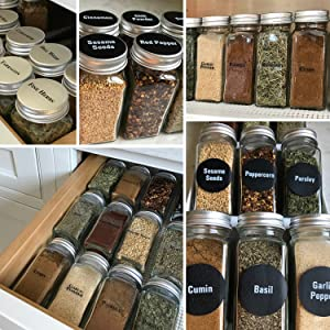 24 FRENCH SQUARE GLASS SPICE JAR & STAINLESS STEEL RACKS SET sold exclusively by TALENTED KITCHEN