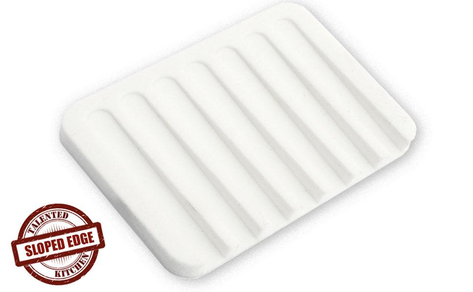 Amazon Com Silicone Soap Dish Drainer Tray White Home