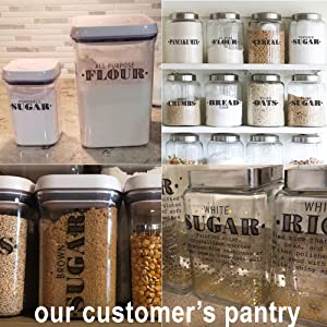 talented kitchen pantry labels samples