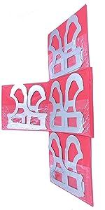 """#EG02-5021 25 Pcs//Set Radius Gage Set Fractional 1//64-1//2/"""" Gages with Holder"""