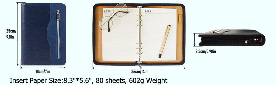 SAYEEC journal notebook refillable paper