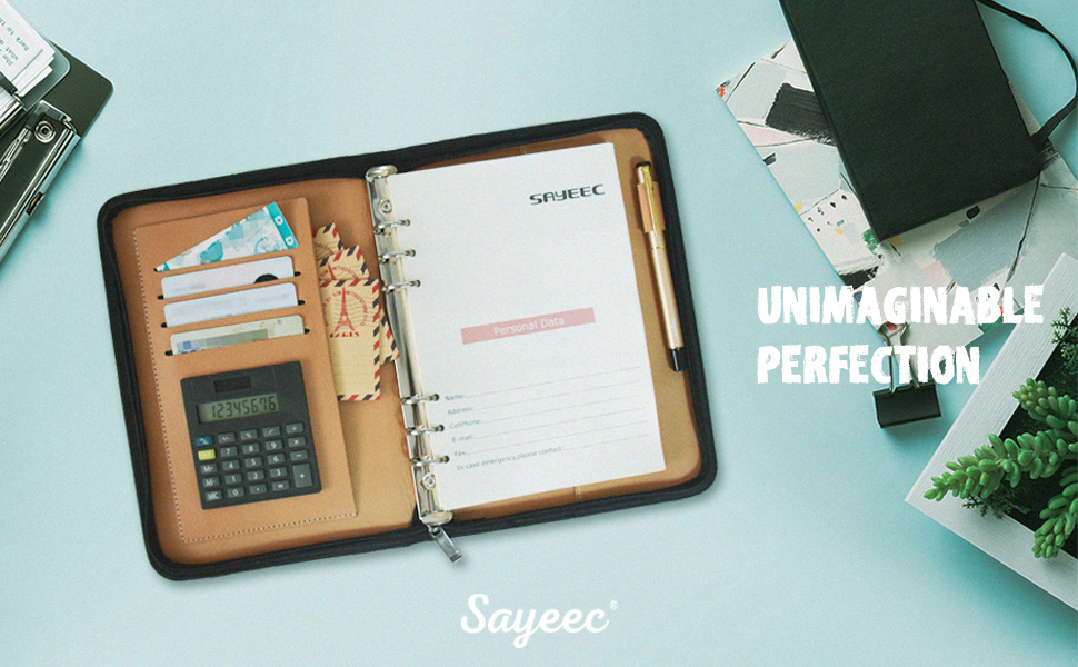 sayeec ring binder a5 notebook