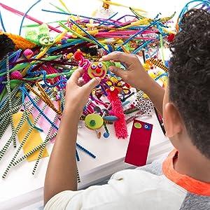 craft, creativity, art, pipe cleaner, pom pom