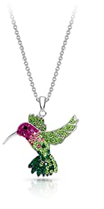 Colorful Flying Hummingbird Crystal Pendant