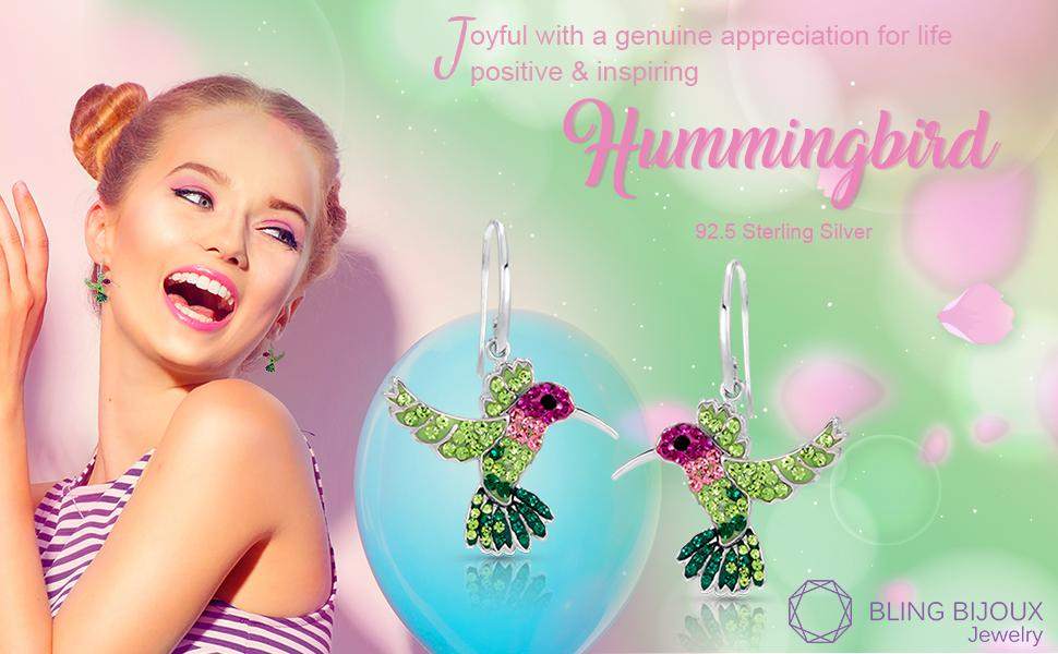 Hummingbird 92.5 Sterling Silver Earrings