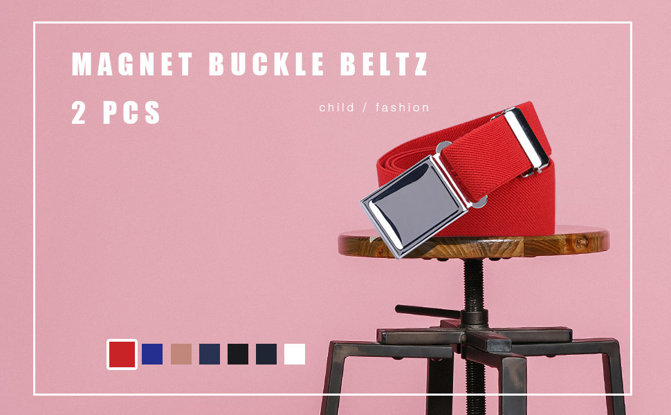 Magnet buckle belt for children