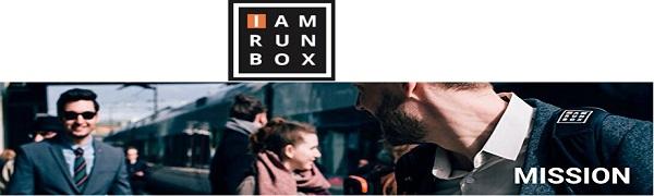 IAMRUNBOX Backpack Pro Sportif Sac /à Dos de Commuter Noir Porte V/êtements et Ordinateur Portable pour Voyages et D/éplacements Urbains Anti-Rebond