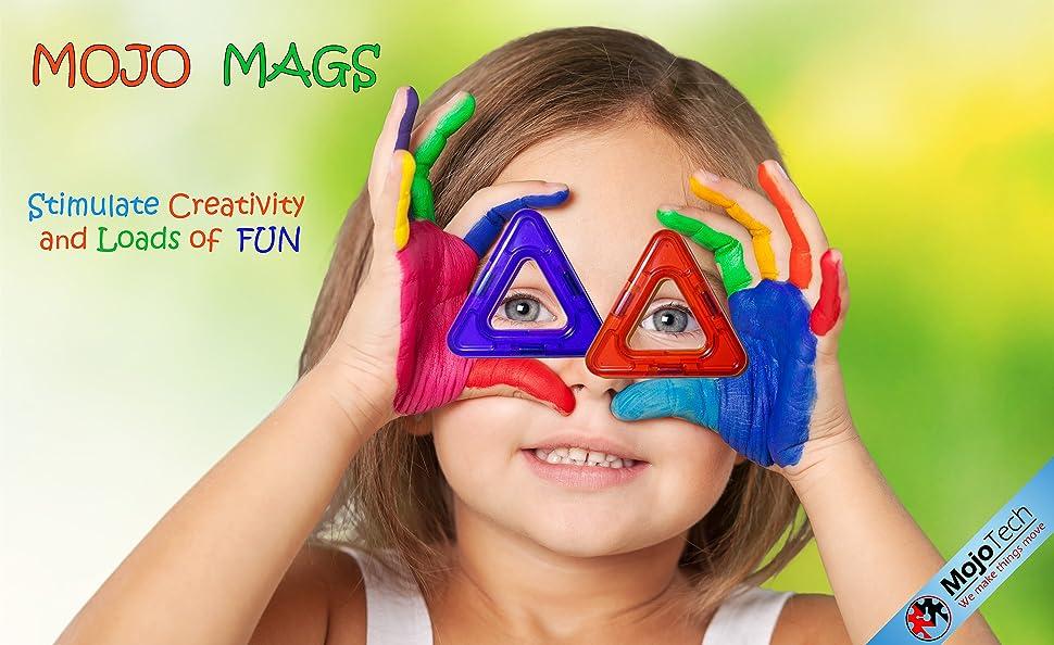 Amazon.com: MOJO MAGS - Magnetic Blocks for kids 66 PCS
