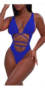 One Piece String Monokini Swimsuit