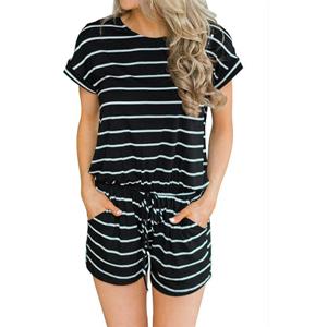 fbcedf7e1450 Amazon.com  Artfish Women s Summer Striped Jumpsuit Casual Loose ...
