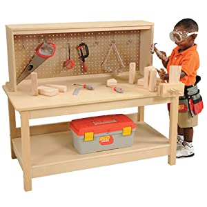 Amazon Com Kaplan Wooden Workbench With Vise Toys Amp Games