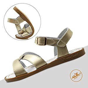 Girl's Adjustable Original Flat Sandal Open Toe Shoes (Toddler/Little Kid/Big Kid/Women's)