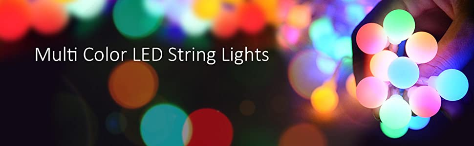 multi color led string lights